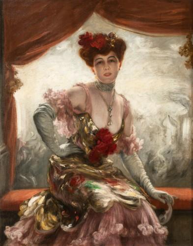 Karl Gampenrieder (1860-1930) - Portrait of a woman - Paintings & Drawings Style Art nouveau