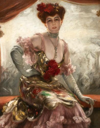 Paintings & Drawings  - Karl Gampenrieder (1860-1930) - Portrait of a woman