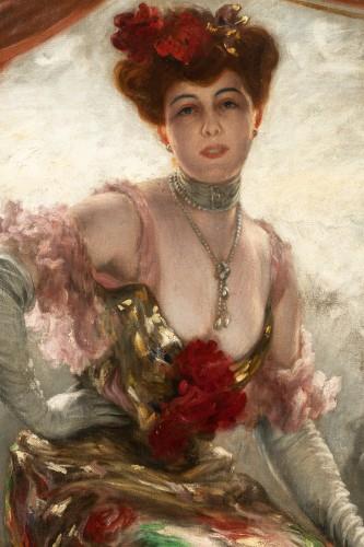 Karl Gampenrieder (1860-1930) - Portrait of a woman -