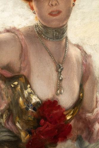 Karl Gampenrieder (1860-1930) - Portrait of a woman - Art nouveau