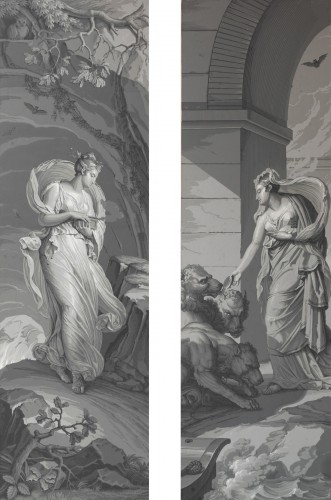 """Panoramic wallpaper """"The Story of Psyche"""" edited by Desfossé & Karth - Paintings & Drawings Style"""