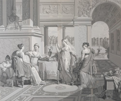 """19th century - Panoramic wallpaper """"The Story of Psyche"""" edited by Desfossé & Karth"""