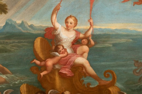 Paintings & Drawings  - Pair of 18th century mythological scenes - Follower of Filippo LAURI
