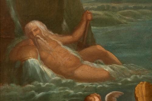 18th century - Pair of 18th century mythological scenes - Follower of Filippo LAURI