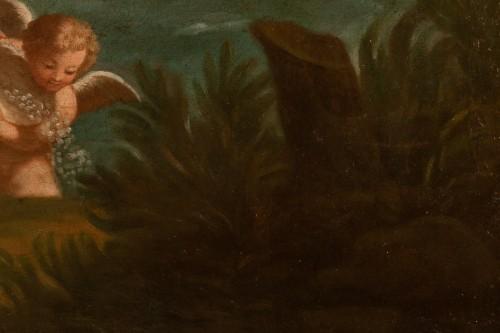 Pair of 18th century mythological scenes - Follower of Filippo LAURI - Louis XIV