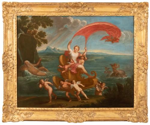 Louis XIV - Pair of 18th century mythological scenes - Follower of Filippo LAURI