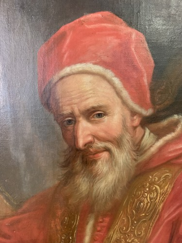 Pope Pius V - Paintings & Drawings Style Louis XV