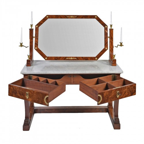 Empire Period Dressing Table Stamped Jacob. D. R. Meslee ""