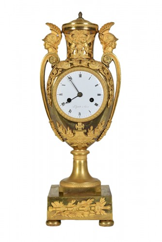 Empire Clock In Gilded Bronze, Signed Lepaute, Paris, Circa 1810