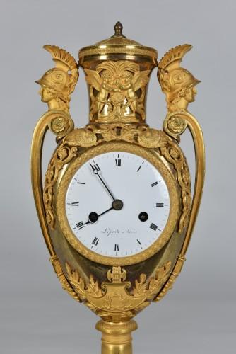 Horology  - Empire Clock In Gilded Bronze, Signed Lepaute, Paris, Circa 1810