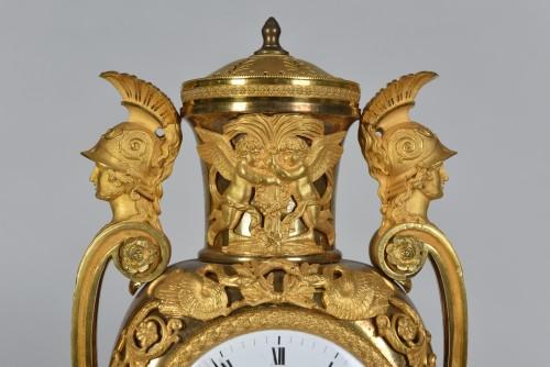 Empire Clock In Gilded Bronze, Signed Lepaute, Paris, Circa 1810 -