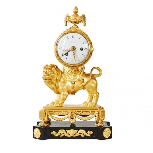 An Important Louis XVI Gilt Bronze Pendule
