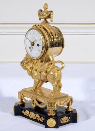 An Important Louis XVI Gilt Bronze Pendule  -