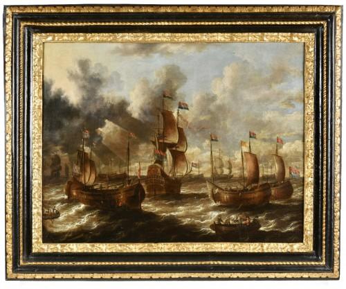 Pair of marines, Peter van de Velde (1634-1723)