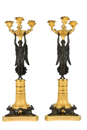 Victory bronze Candelabra, Empire Period