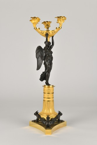 Victory bronze Candelabra, Empire Period - Lighting Style Empire