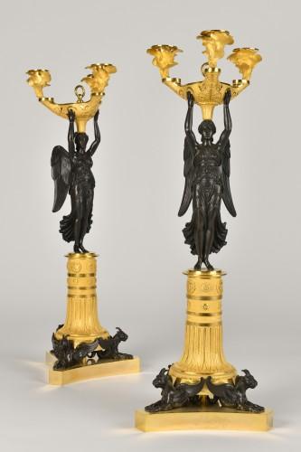 Victory bronze Candelabra, Empire Period -