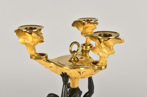 19th century - Victory bronze Candelabra, Empire Period