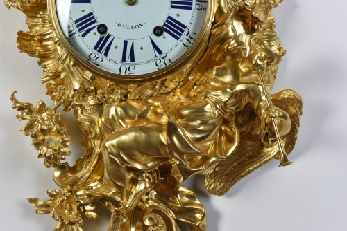 Important Louis XV Period Cartel, Attributed to Jacques Caffieri 1678-1755 - Horology Style Louis XV