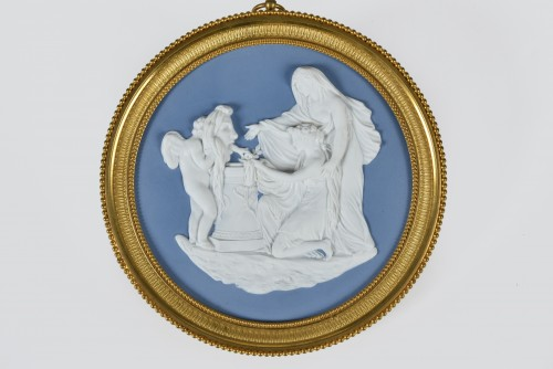 Porcelain & Faience  - Important Empire Period Medaillon, Attributed To Manufacture De Nast, Paris