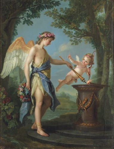 Charles Amédée Philippe van Loo (1719-1795), Hymen and Cupid - Paintings & Drawings Style Louis XV