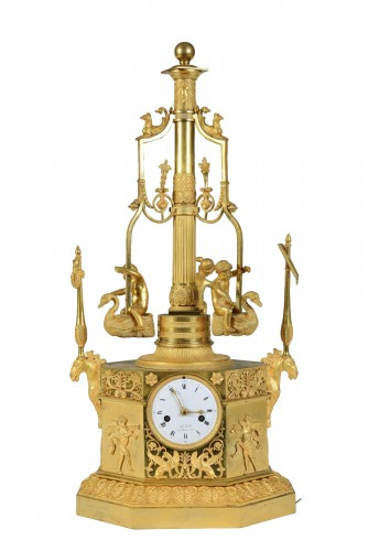 Pendule Au Carrousel, d'époque Empire, Vers 1805