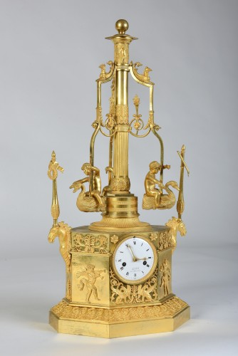 An Empire Automaton 'pendule Au Manège', By Jean-François De Belle, Paris, - Horology Style Empire