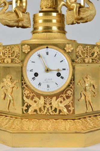 Horology  - An Empire Automaton 'pendule Au Manège', By Jean-François De Belle, Paris,