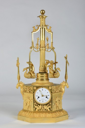 An Empire Automaton 'pendule Au Manège', By Jean-François De Belle, Paris, - Empire
