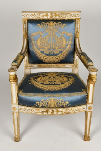 Seating  - Important white and gold Empire period Salon