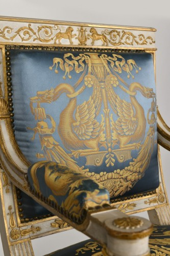 Important white and gold Empire period Salon -