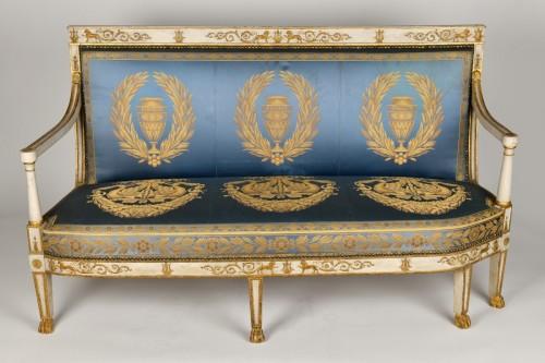 19th century - Important white and gold Empire period Salon