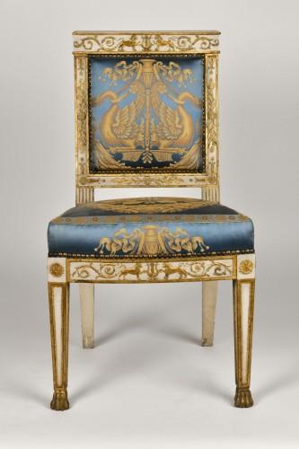 Important white and gold Empire period Salon - Empire