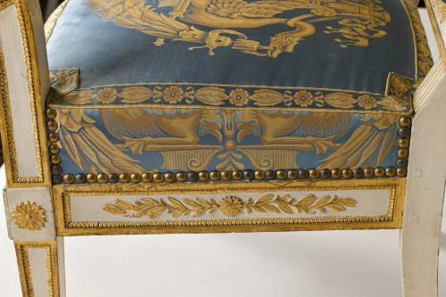 Antiquités - Important white and gold Empire period Salon