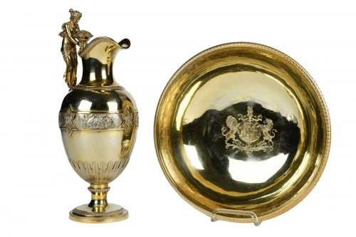 French Silver-Gilt Ewer, with the Coat of Arms of the English Royal Family