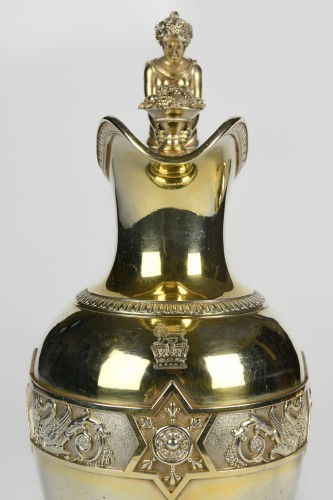 French Silver-Gilt Ewer, with the Coat of Arms of the English Royal Family  -