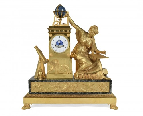 An Imposing Ormoulu, Empire period, mantel clock, signed Gaston Jolly