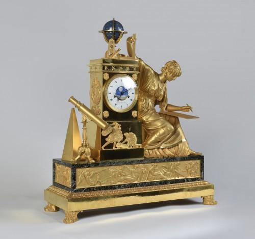 An Imposing Ormoulu, Empire period, mantel clock, signed Gaston Jolly - Horology Style Empire