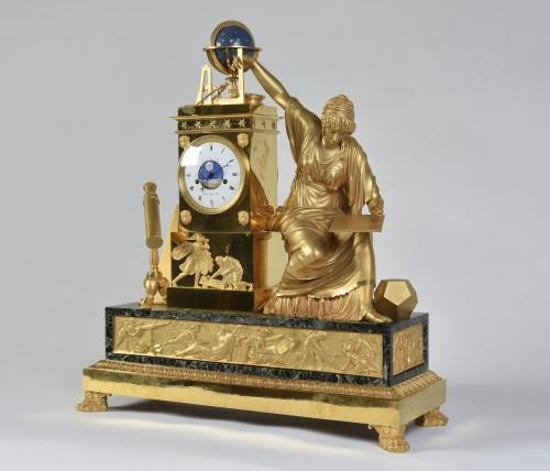 An Imposing Ormoulu, Empire period, mantel clock, signed Gaston Jolly -