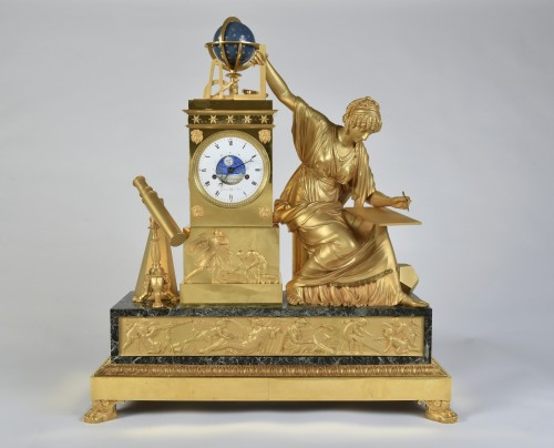 19th century - An Imposing Ormoulu, Empire period, mantel clock, signed Gaston Jolly