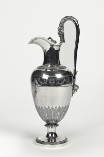 Ewer and its basin, Directoire Period - Antique Silver Style Directoire
