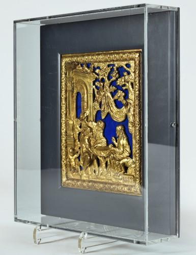 Religious Antiques  - A GILT BRONZE AND LAPIS LAZULI PANEL, Rome circa 1700