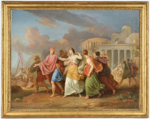 Laurant Pécheux (1729- 1821), The Abduction of Helen 1760 - Paintings & Drawings Style Louis XV