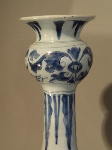 Porcelain & Faience  -  Large earthenware vase delft 18th century