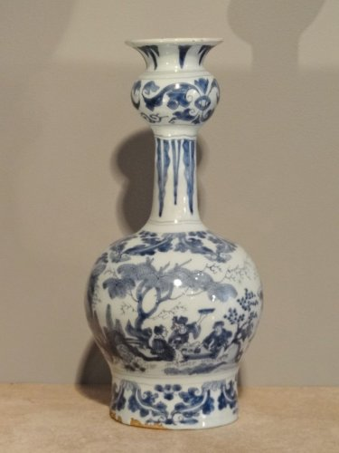 Large earthenware vase delft 18th century - Louis XV