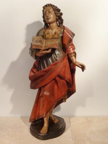 St. John carved and polychromed 17th century