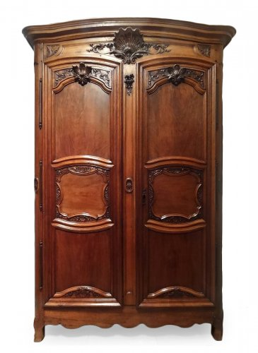 French Provincial 18th Century Walnut Cabinet