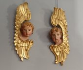 Pair of heads of angels 18th century