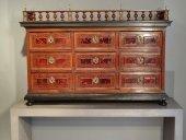 Cabinet and tortoiseshell marquetry veneer 17th century