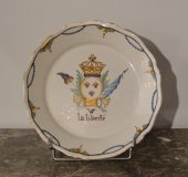 revolutionary earthenware plate nevers 18th